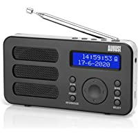 Portable DAB Radio - August MB225 - DAB/DAB +/FM - RDS Function, 40 Presets, Stereo/Mono Portable Digital Radio, Dual…