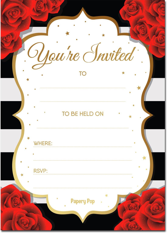 Amazon.com: 30 Invitations with Envelopes - Bridal Shower ...