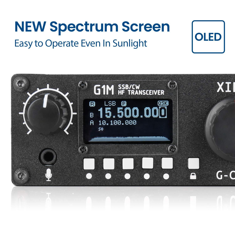 Amazon com: Xiegu G1M G-Core Portable SDR HF Transceiver QRP
