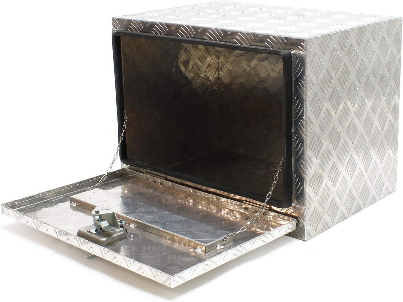 Cofre aluminio remolque veh/ículo Caja almacenaje enganche coche Caja herramientas Accesorios coche