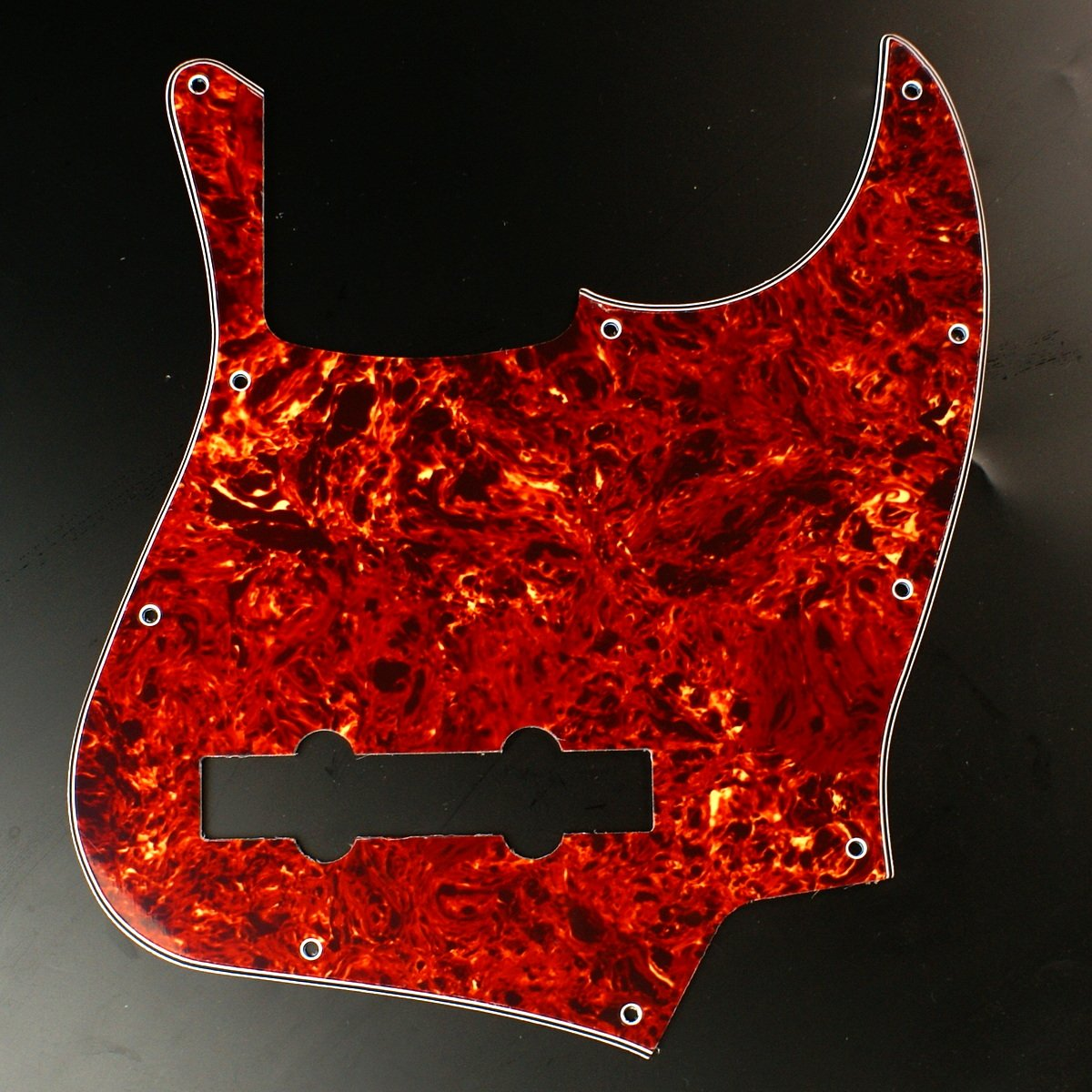 Custom bass Guitar Pickguard For Jazz Bass 5 String JB ,4ply Red Tortoise