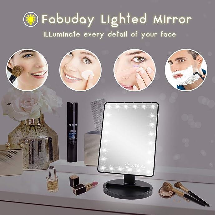 Fabuday 触摸控制可选装LED化妆镜 $14.44 海淘转运到手约¥139