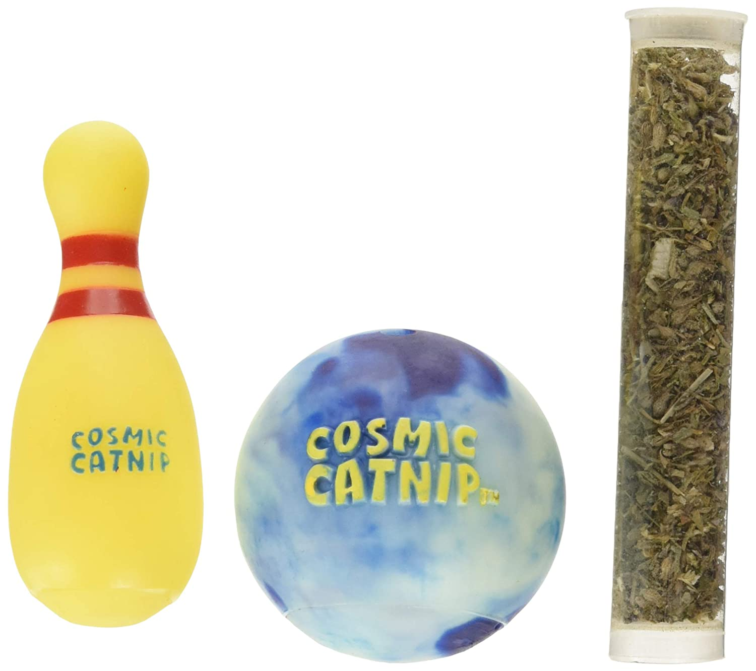 OurPets CATNIP Vinyl Refillable Cat Toy Bowling Ball And Pin One to Spare Refill
