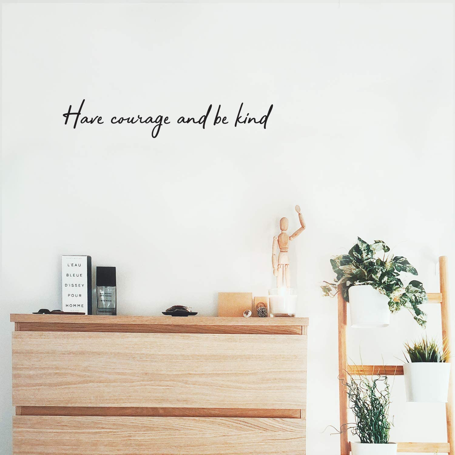 """Vinyl Wall Art Decal - Have Courage and Be Kind - 4.6"""" x 25"""" - Trendy Inspirational Quote for Home Bedroom Living Room Office School Classroom Gym Decoration Sticker"""