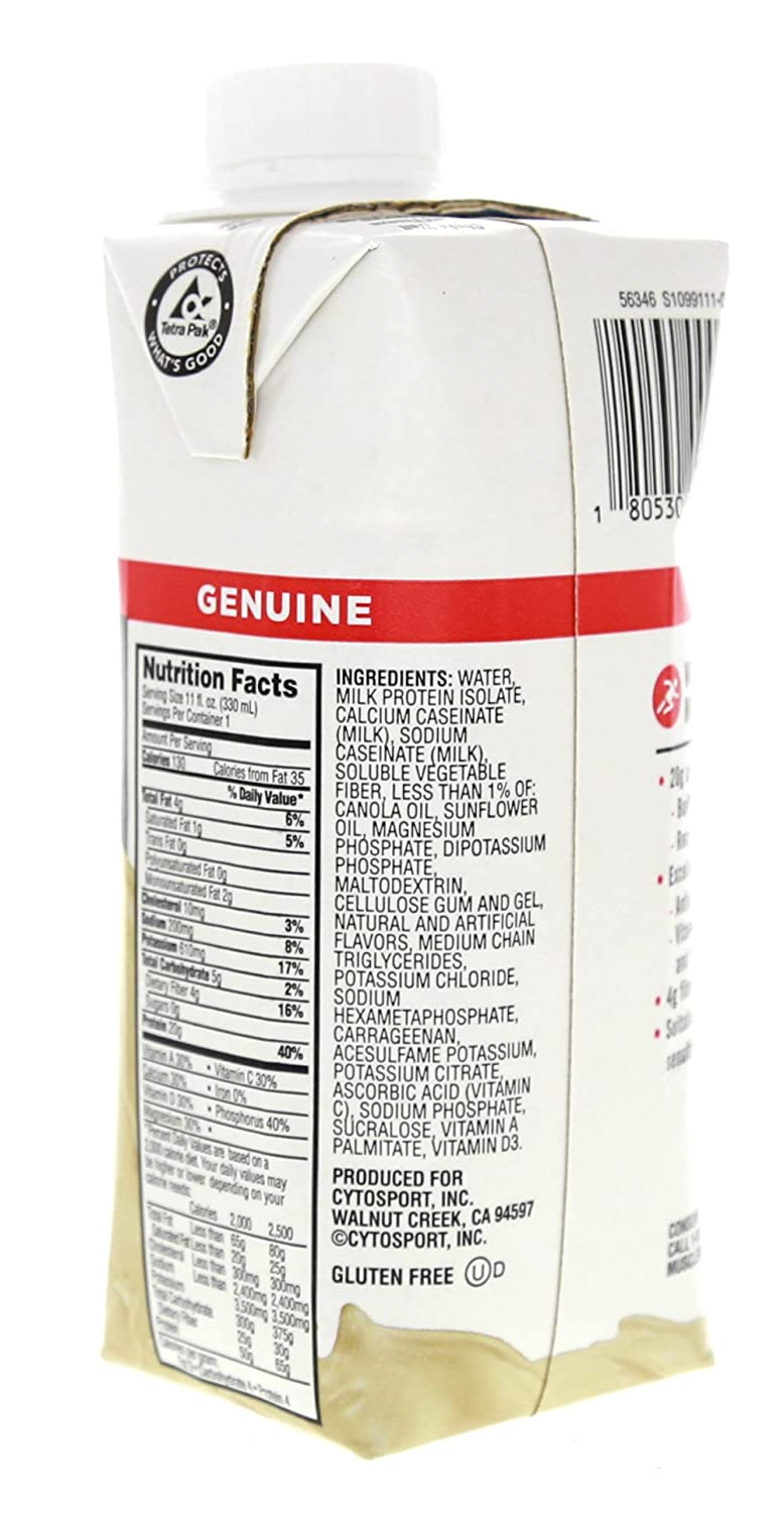 Amazon.com: CytoSport Muscle Milk RTD Vanilla Creme 3 - 4 packs [12 - 11 fl oz (330 ml) shakes]: Health & Personal Care