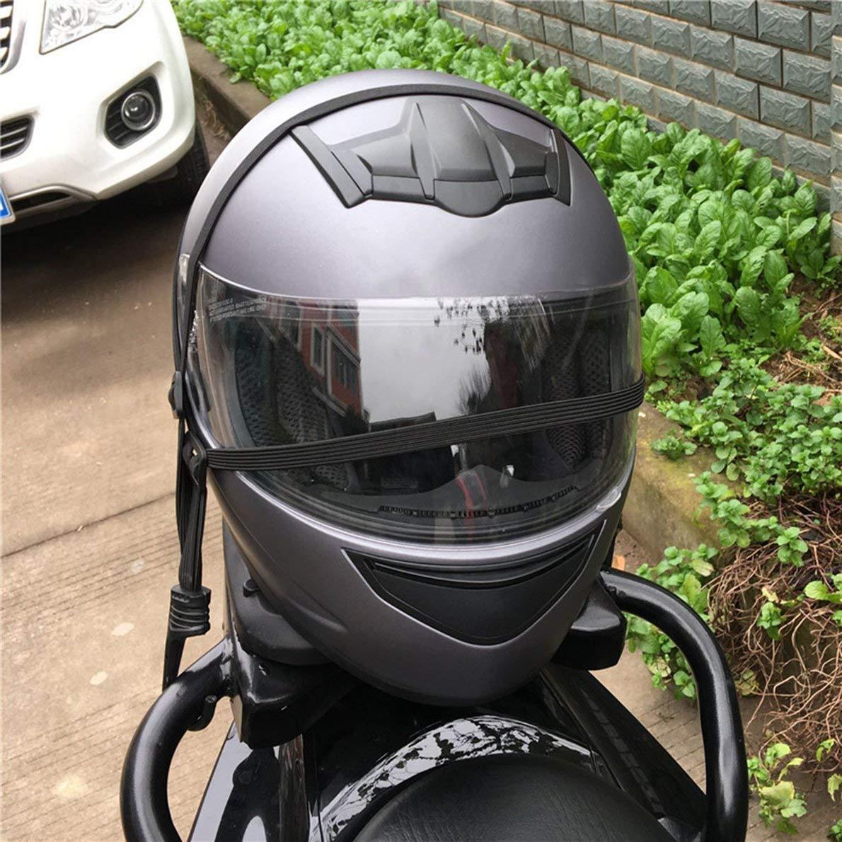 Uqiangbao Motorcycle Helmet Strength Retractable Elastic Rope with Two Hooks Universal Luggage Flexible Strap Ties Belting