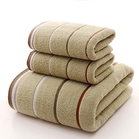 Premium Towel Set 100% Cotton Striped Bath Towels Hand Towels Bathroom  Decor, 3 Piece