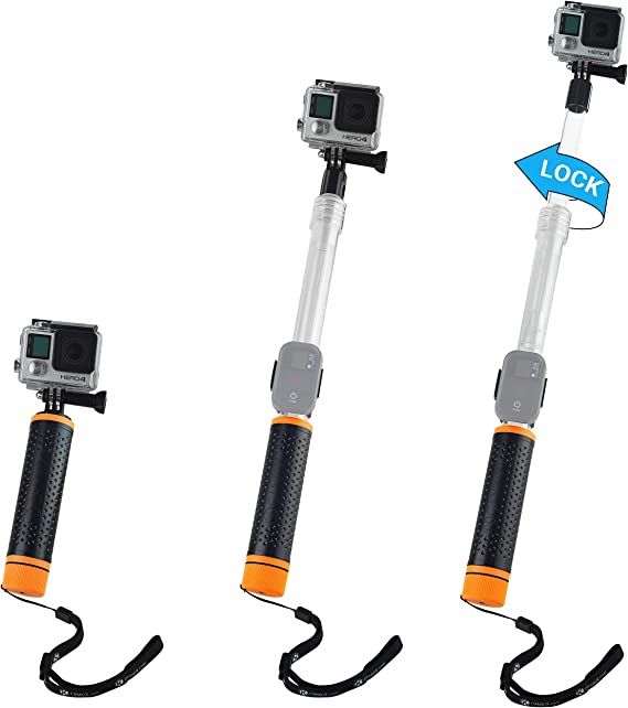 Floating Selfie Stick Diving Bobber Hand Grip for GoPro Hero 8 OSMO Action Cam