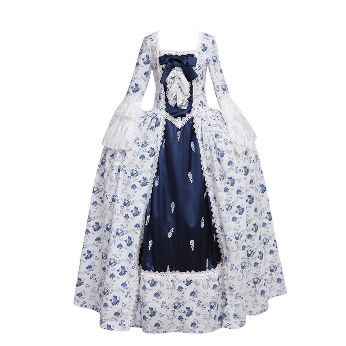 1791's lady Women's Victorian Rococo Dress Inspration Maiden Costume NQ0032-XS by 1791's lady (Image #2)