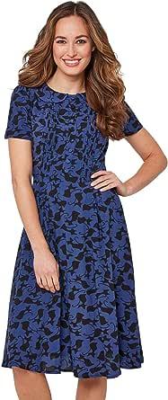 Joe Browns Women's Glamourpuss Dress, Blue (Navy/Black