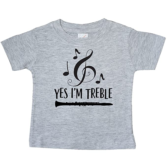 b128e89b3f inktastic - Clarinet Player Marching Baby T-Shirt 6 Months Heather Grey  2d05f
