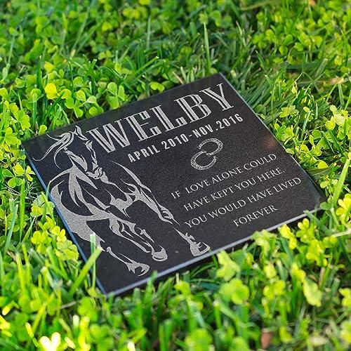 amazon com be burgundy memorial horse grave marker horse