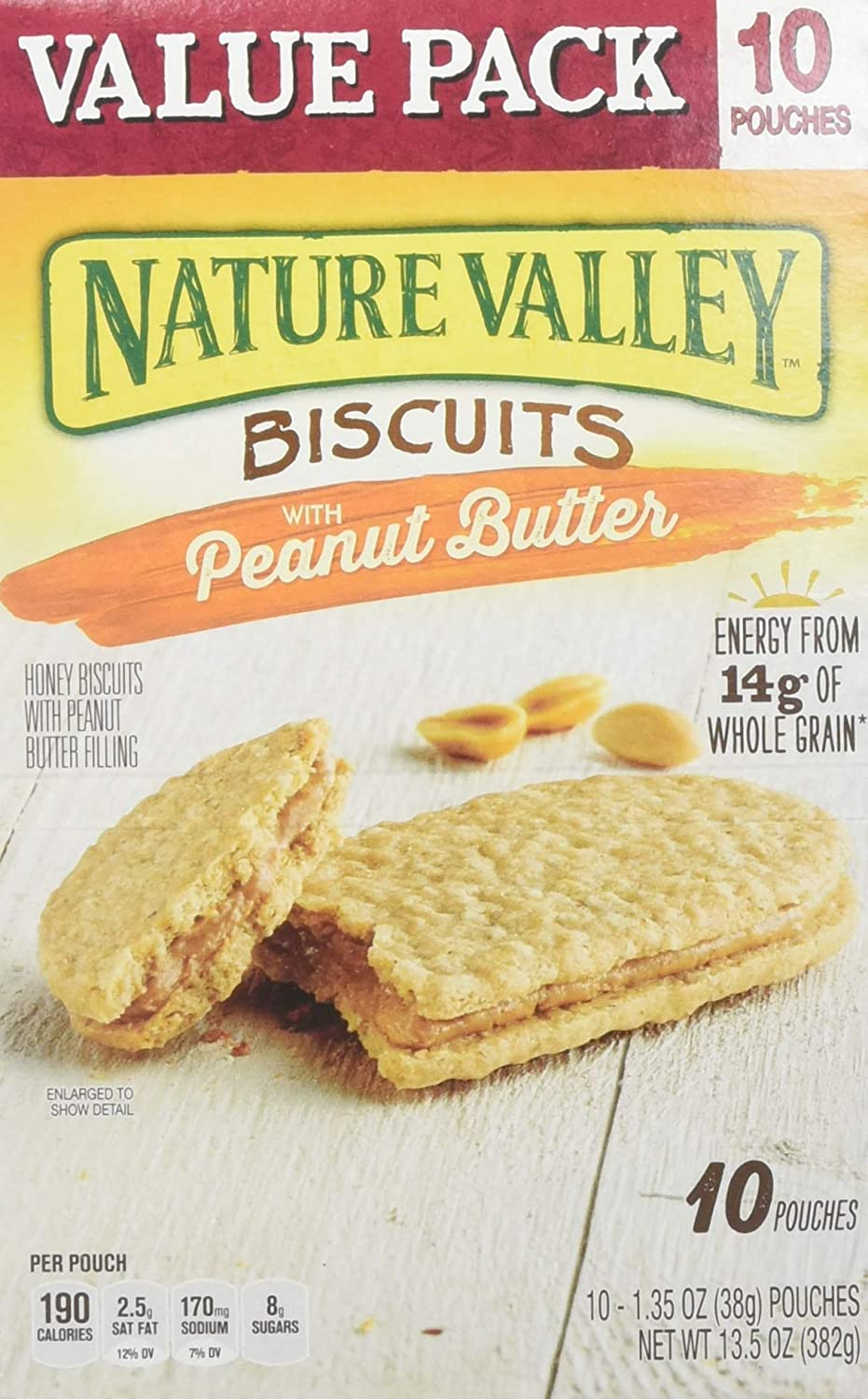 Nature Valley Biscuits With Peanut Butter Box, 10 Count (pack Of 6)