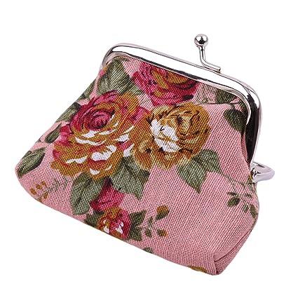 Amazon.com: Rurah - Monedero de lona para mujer, diseño de ...