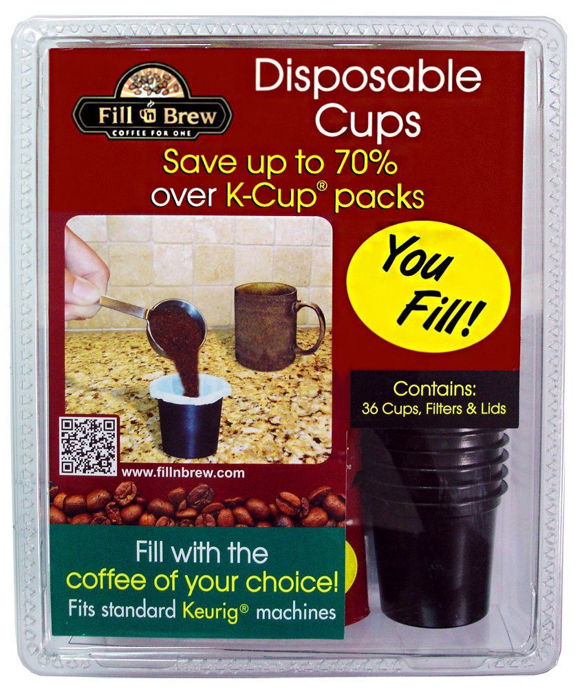 LaMi Products INC Economy Kitchen Accessory Fill N Brew Disposable Cups, 36-Count