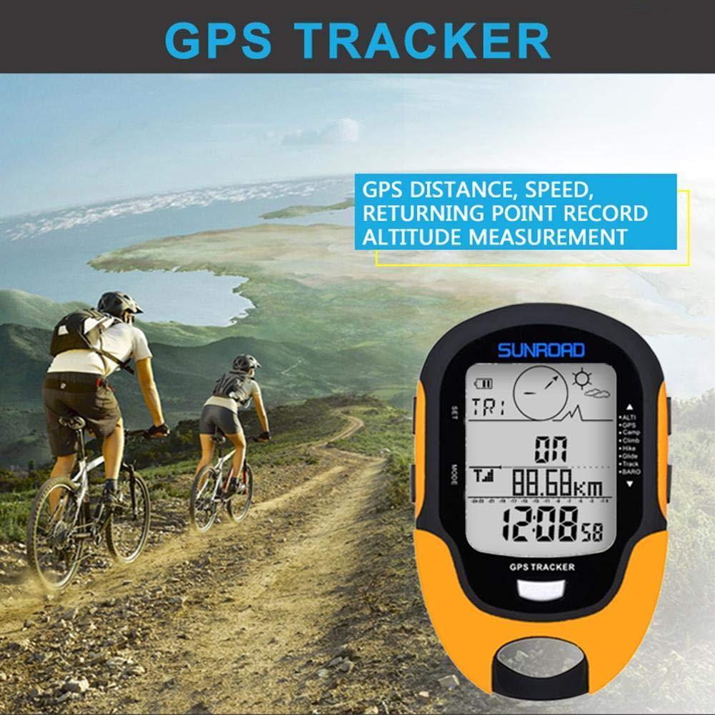 Lookthenbuy SUNROAD Altim/ètre /électronique Multifonction GPS Beidou avec Boussole