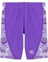 Tuga Girls Swim Jammer Short 2-14 Years, UPF 50+ Sun Protection Board Short