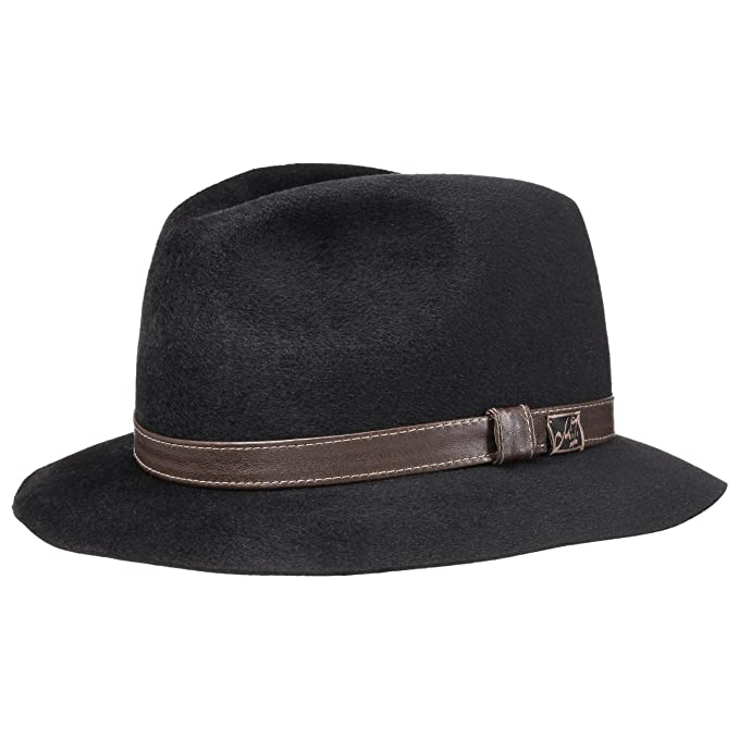 Ennio Velours Cappello Mayser cappelli di feltro cappello da uomo 61 cm -  nero c2f5856d7741