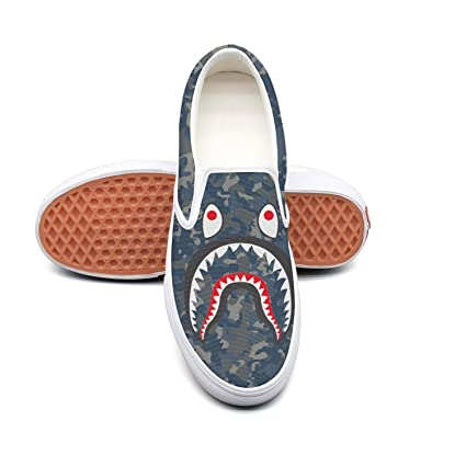 ad3bb430 Amazon.com: SDERTA camo Shark Shoes Slip on Sneaker Men Walking: Sports &  Outdoors