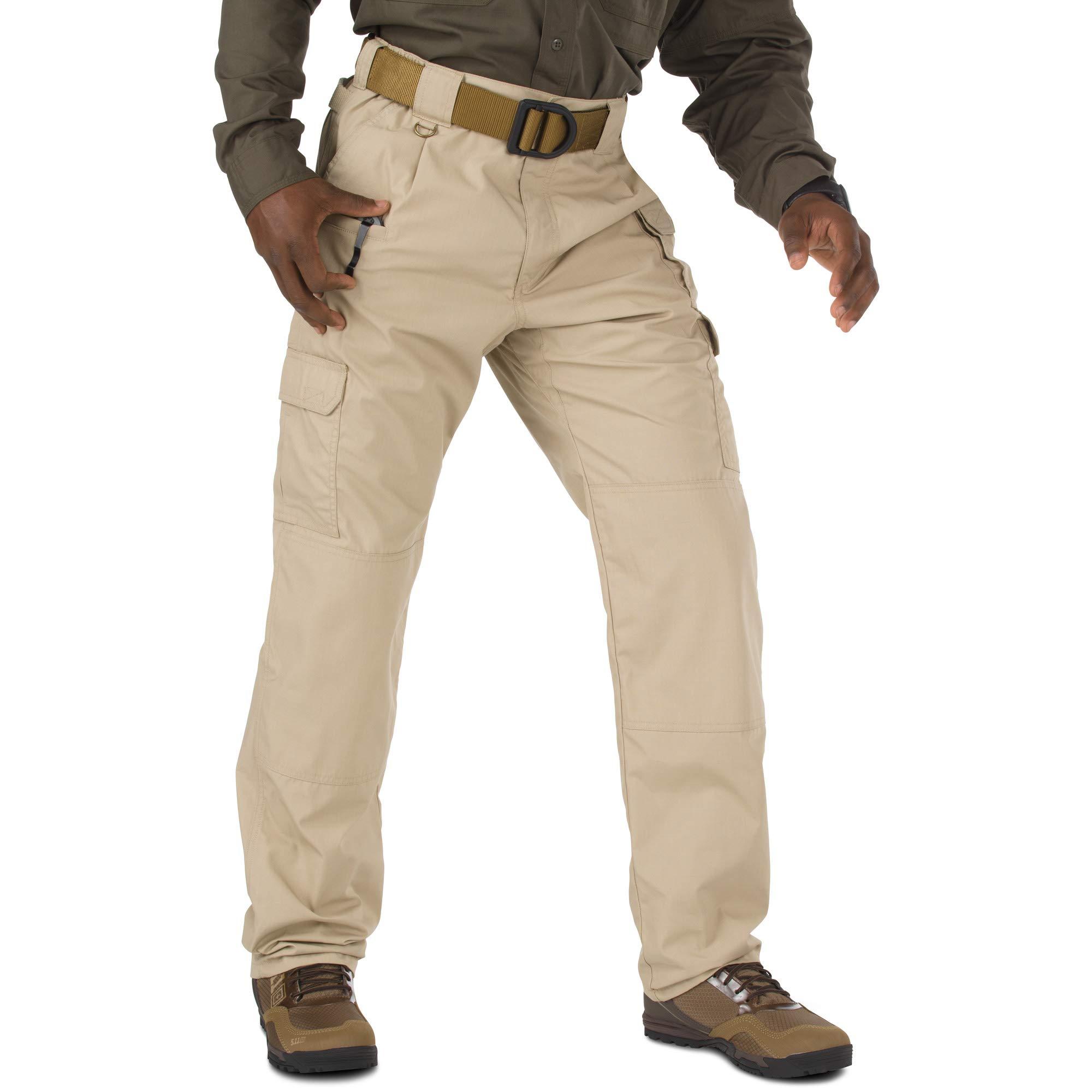 5.11 Tactical Men's Cotton Unhemmed Pant , TDU Khaki, 46
