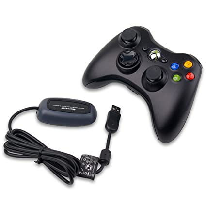 Buy Xbox 360 Wireless Controller with Receiver (Black) Online at Low ...