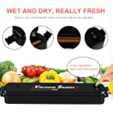 Vacuum Sealer Automatic Vacuum Sealing System, Vacuum Sealing Machine for Food Preservation and Storage including Starter Kit and 15 Sealer Bags for Free,Compact Vacuum Sealer