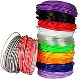 Soyan 3D Pen Filament Refills, 1.75mm 393.6FT ABS Filament, Pack of 12 Colors, 32.8FT Each Color, Suitable for 3D Pen, 3D Printer and More
