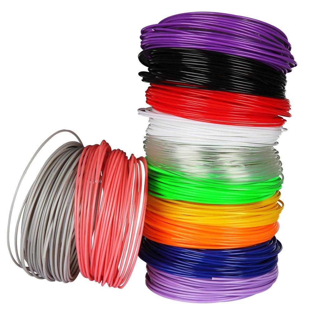 Soyan 3D Pen Filament Refill Pack 1.75mm PLA 12 Colors 393.6 Feet