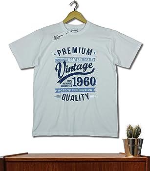 My Generation Gifts 1960 Vintage Year - Aged to Perfection - 60 Cumpleaños Años - Regalo de Cumpleaños Camiseta para Hombre