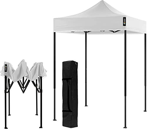 AMERICAN PHOENIX Canopy Tent 5×5 Pop Up Portable Tent Commercial Outdoor Beach Instant Sun Shelter White
