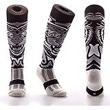 Samson Hosiery ® Funky White Tiger Pattern Socks   Casual Wear   Soccer