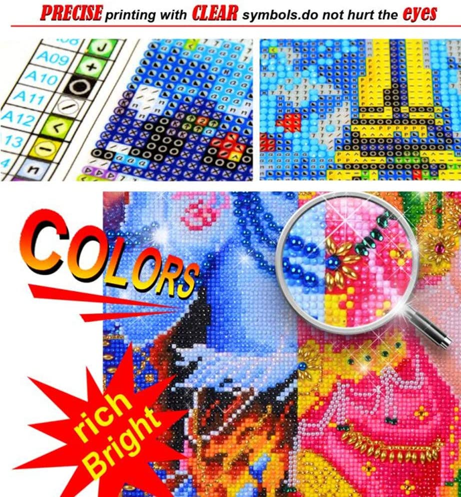 17.72x 19.69 DIY Handwork Store 5D Full Round Crystal Diamond Painting Kits by Numbers Wearing Hat Cat Animal DIY Mosaic Cross Stitch Pattern Handmade Embroidery Art Painting Home Wall Decor