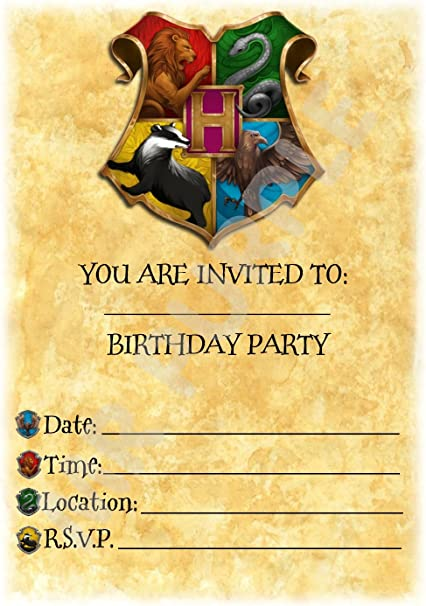 Harry Potter Birthday – invitaciones para fiestas – colorido de ...