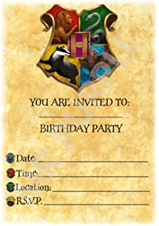 Pack of 12 A5 Invitations With Envelopes Accessories Harry Potter Birthday Party Invites Hogwarts Landscape Gryffindor Theme party decorations