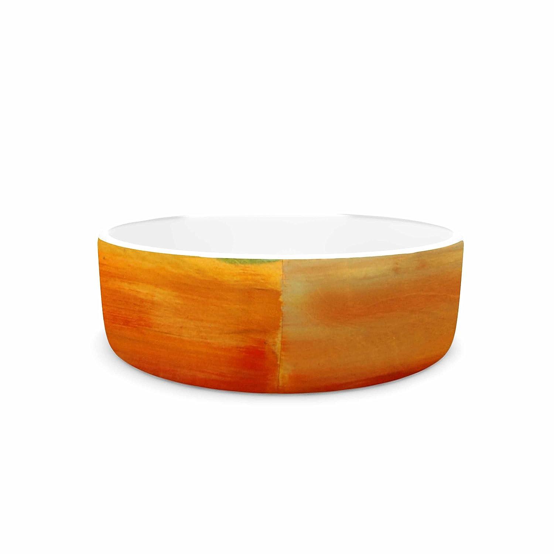 KESS InHouse Nathan Gibbs Art Fournication orange bluee Pet Bowl, 7  Diameter
