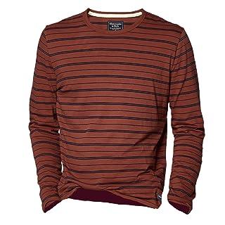 Abercrombie & Fitch - Camiseta de manga larga - Rayas - Manga Larga - para hombre