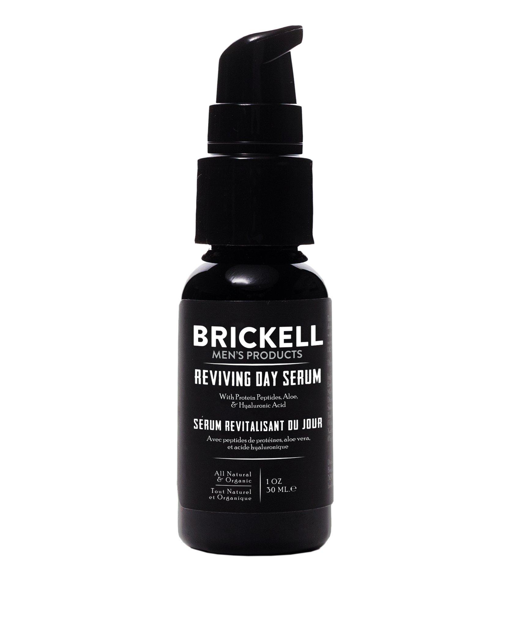 Brickell Men's Anti Aging Reviving Day Serum for Men – Natural & Organic - 1 oz - Scented