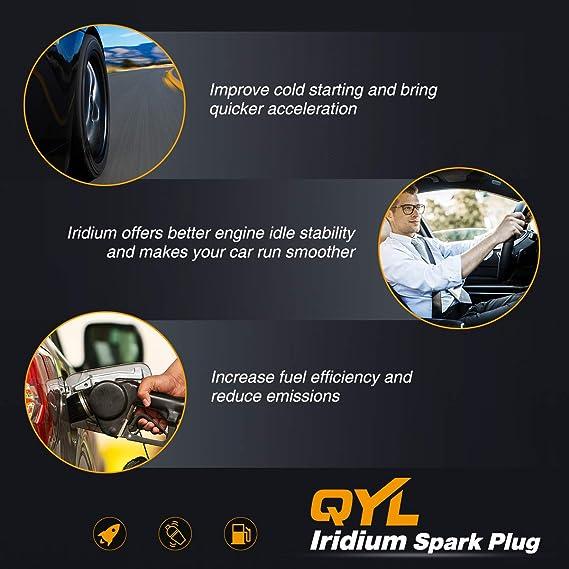 Amazon.com: QYL Iridium IX Spark Plug for Audi A4 A6 A8 Quattro S6 S8 Replacement# BKR6EIX, Pack of 4: Automotive