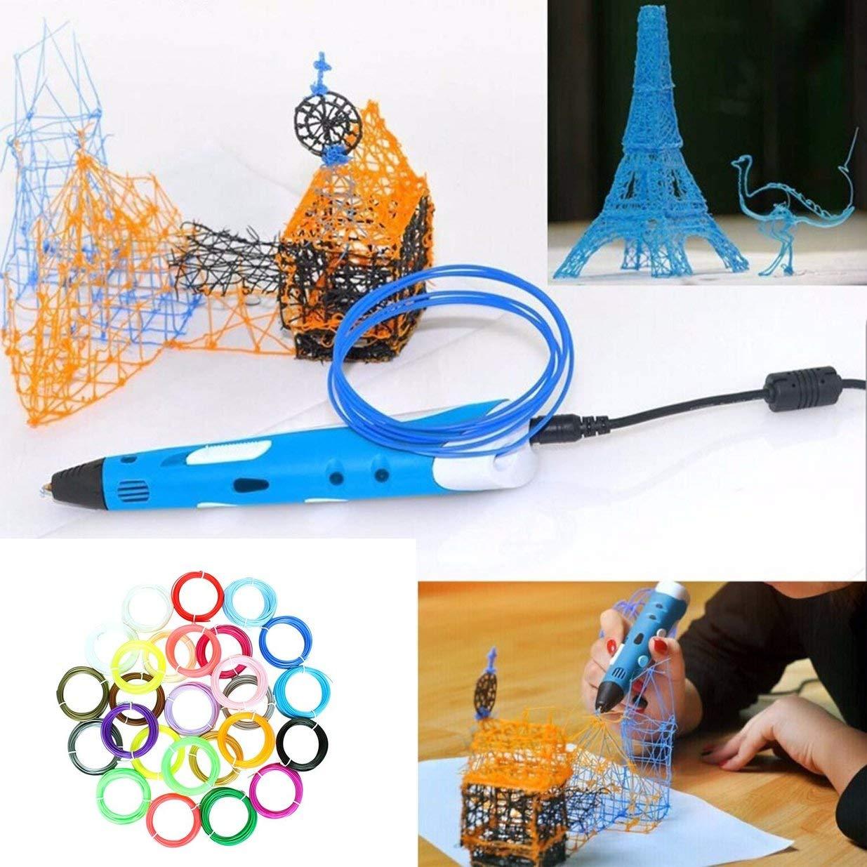 Banbie 20 Colores Pluma de impresión 3D Conjunto de filamentos ...