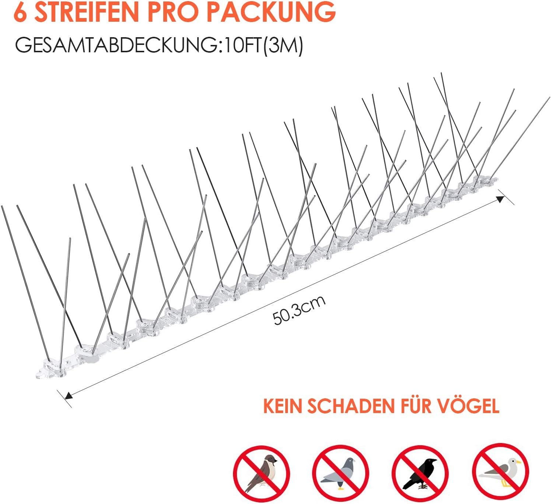 72 Spie/ße Edelstahl 1 m Grau doppelt Wolfpack 5120215 Profi-Linie Taubenabwehr