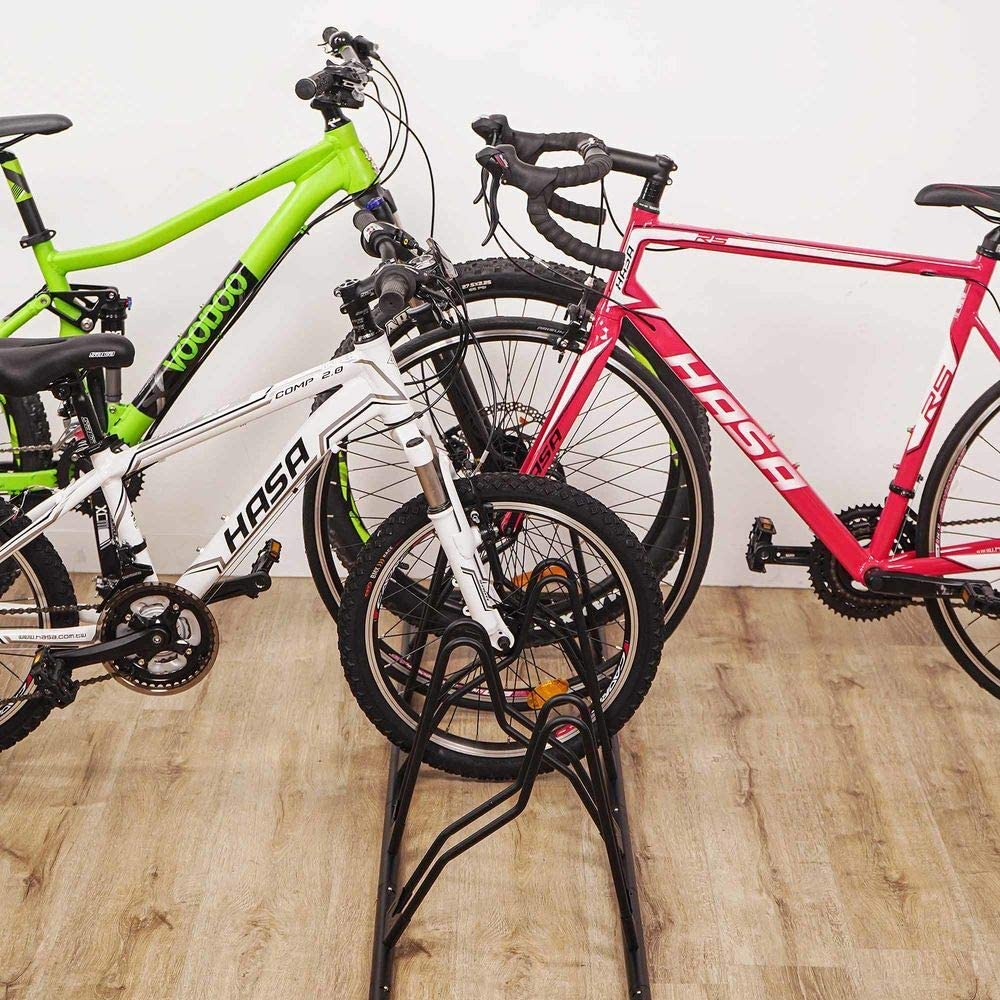 CyclingDeal Bicycle Floor Type Parking Rack Stand - for Mountain MTB and Road Bike Indoor Nook Garage Storage - 5 Bikes : Sports & Outdoors