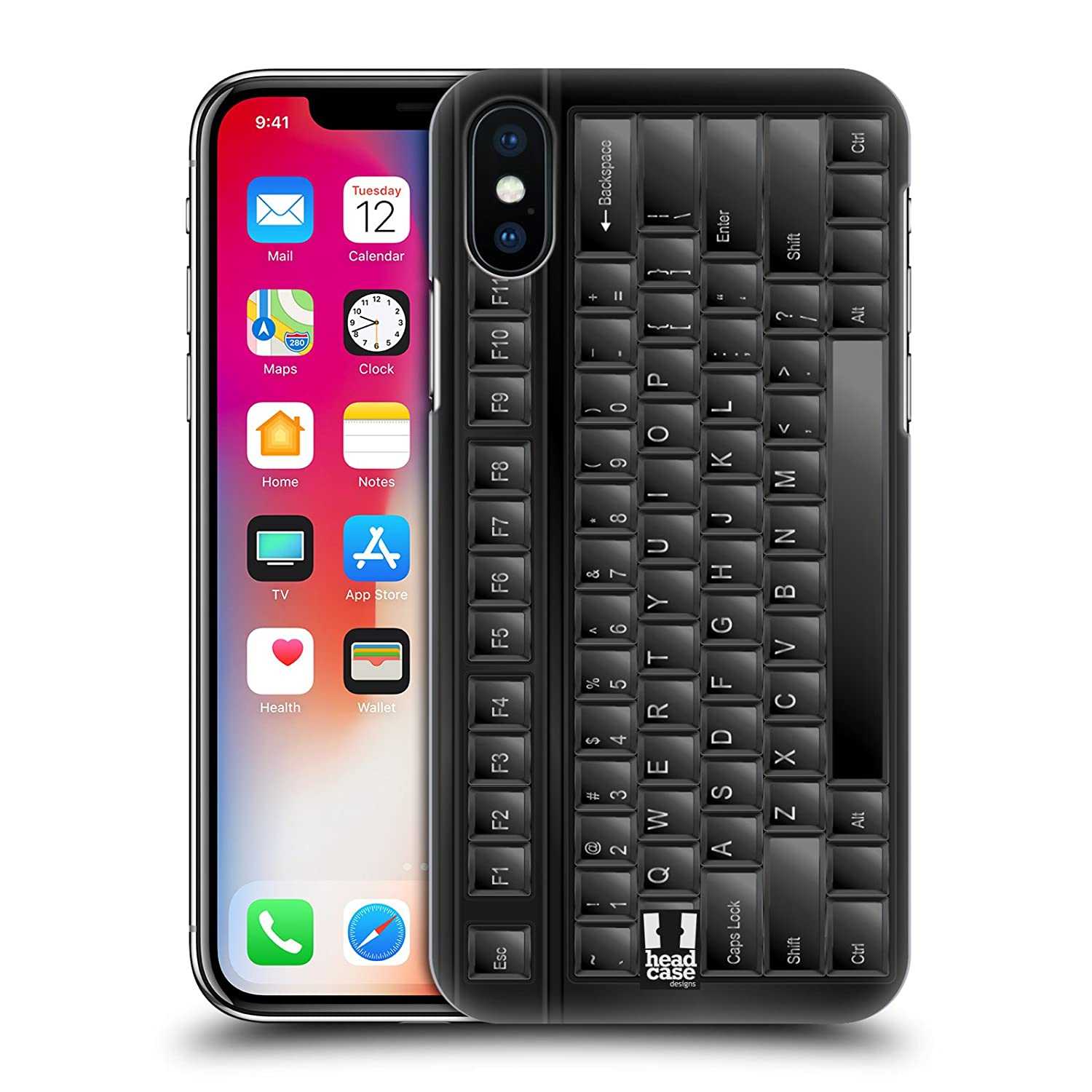 quality design 3832e d6902 Amazon.com: Head Case Designs Pc Keyboard Keys Hard Back Case for ...