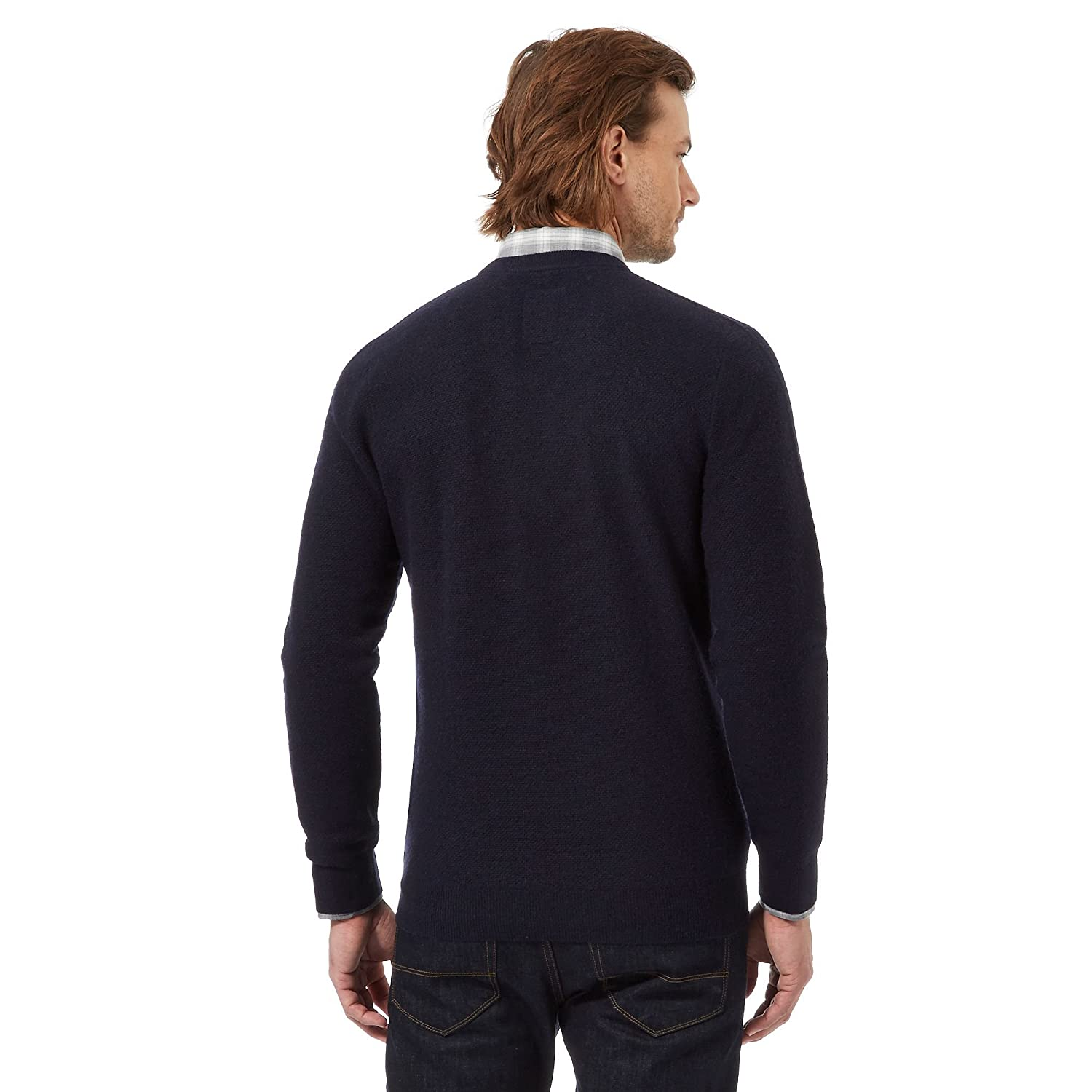 Hammond & Co. By Patrick Grant Mens Big And Tall Navy Lambswool Rich Jumper