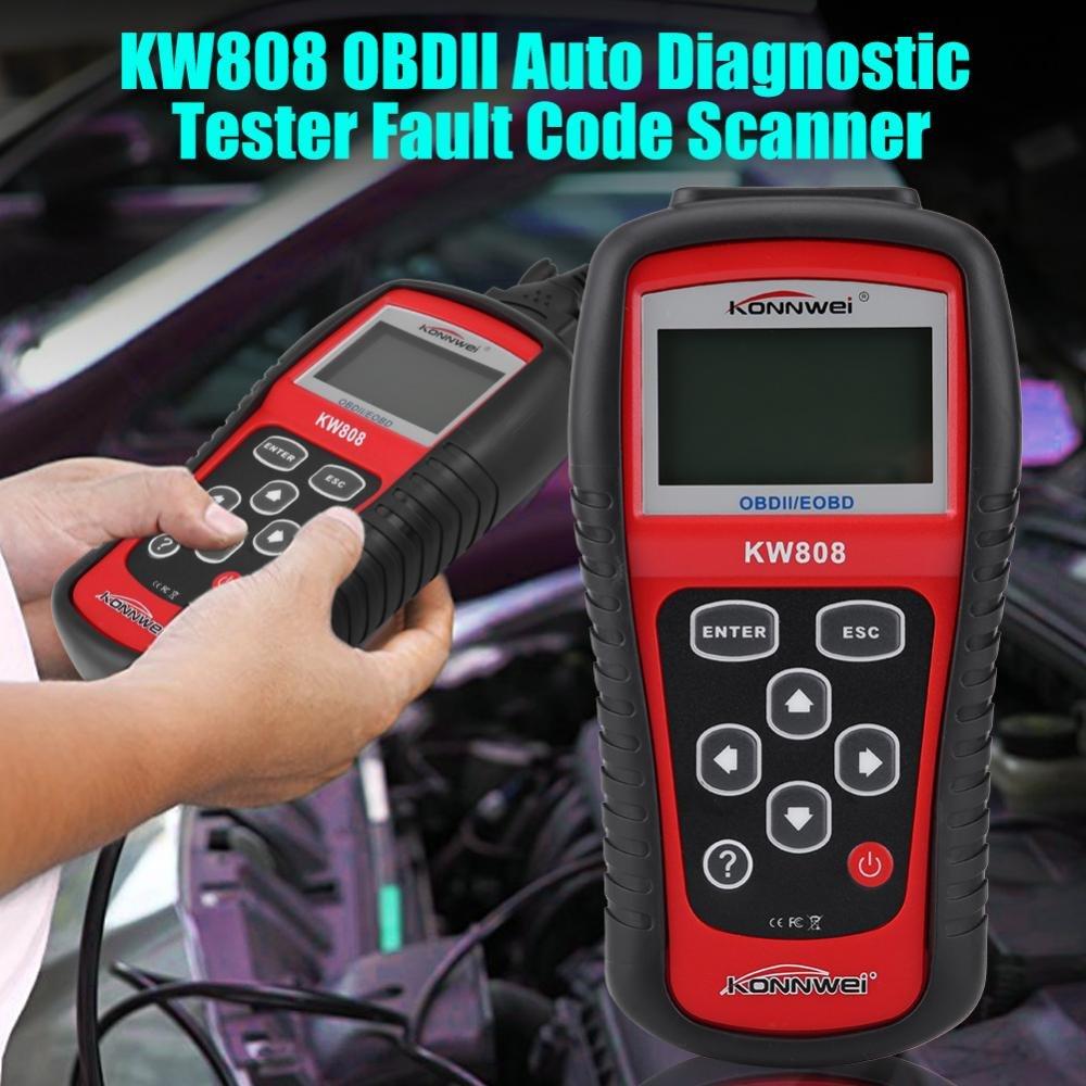 KW808 Konnwei OBDII EOBD OBD2 Scanner Car Code Reader Tester Diagnostic MS509 MX