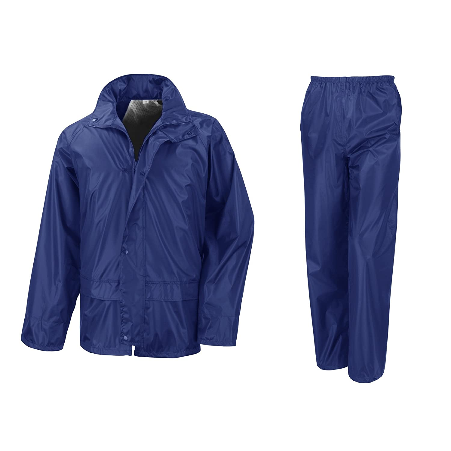 Result Mens Core Rain Suit (Trousers And Jacket Set)