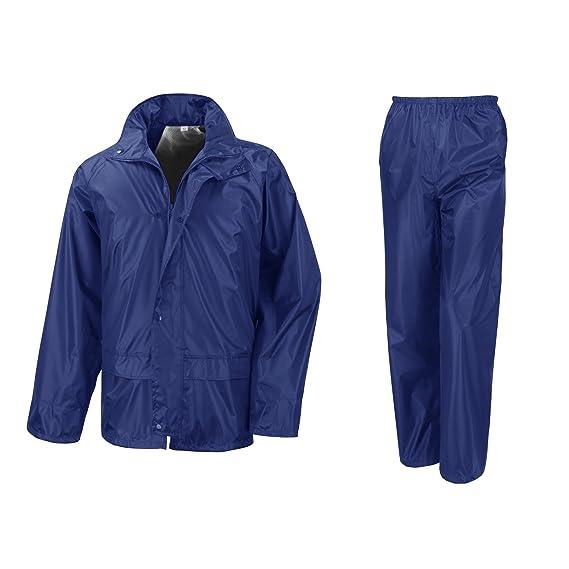 Result - Traje Impermeable  Conjunto Impermeable   chubasquero 2 piezas  (conjunto chaqueta y pantalón 957ae1c6499