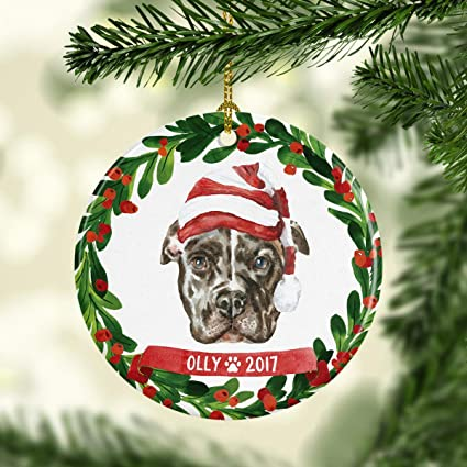 Pitbull Christmas Ornament.Amazon Com Pitbull Christmas Ornament Pitbull Ornament Dog