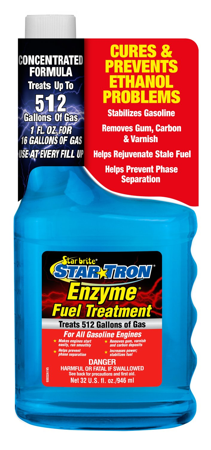 Star Tron Enzyme Fuel Treatment - Concentrated Gas Formula 16 oz - Treats 256 Gallons Star brite 093016SS
