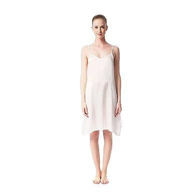 479dc73a467 JASMINE SILK Ladies  Pure Silk Nightie Chemise Nightdress Ivory ...