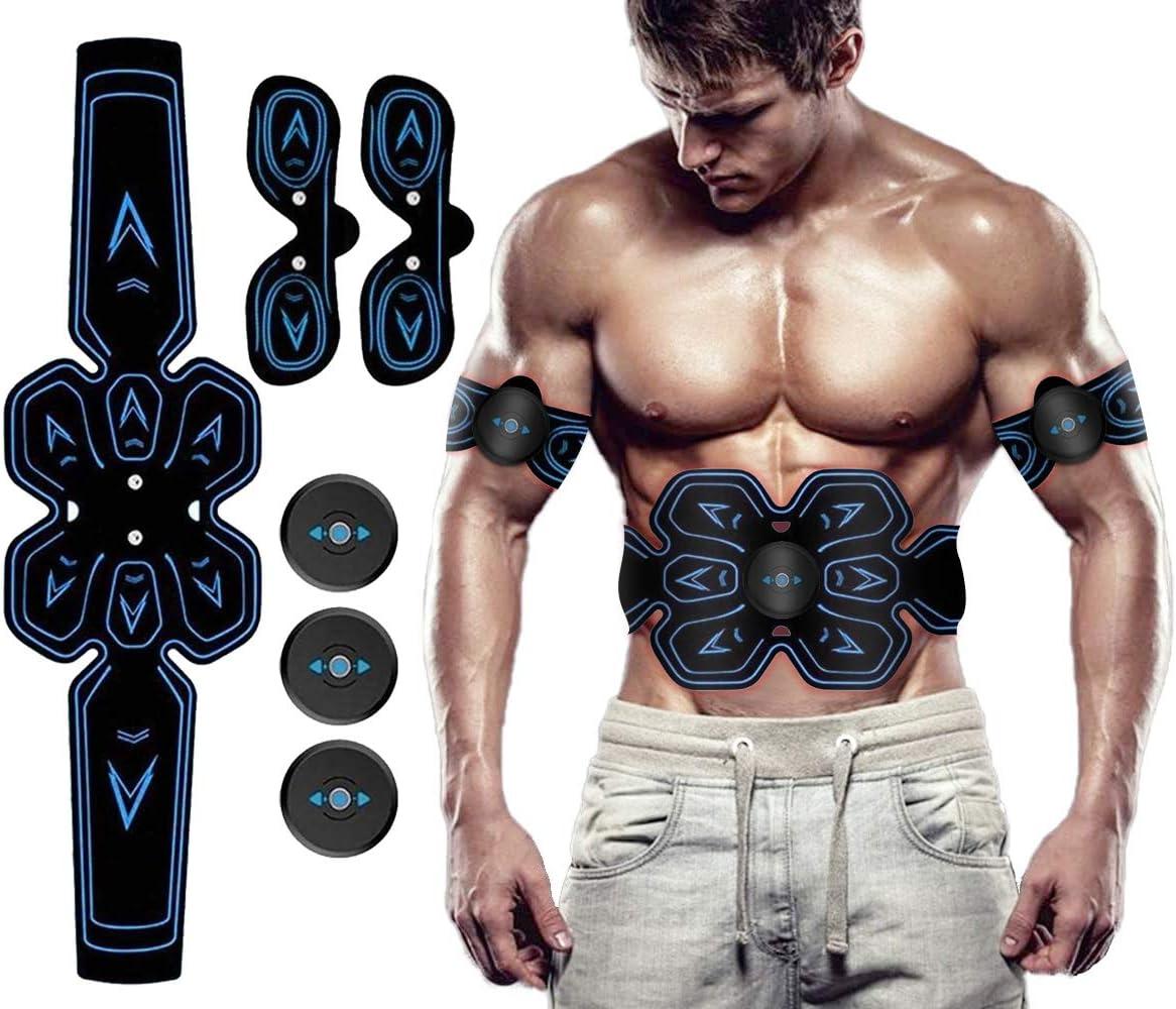 Br/ûler les Graisses Entra/înement Abdominal Ceinture de Taille Chauffante Electrostimulation Musculaire pour Renforcer les Muscles Abdominaux Entra/înement Abdominal EMS
